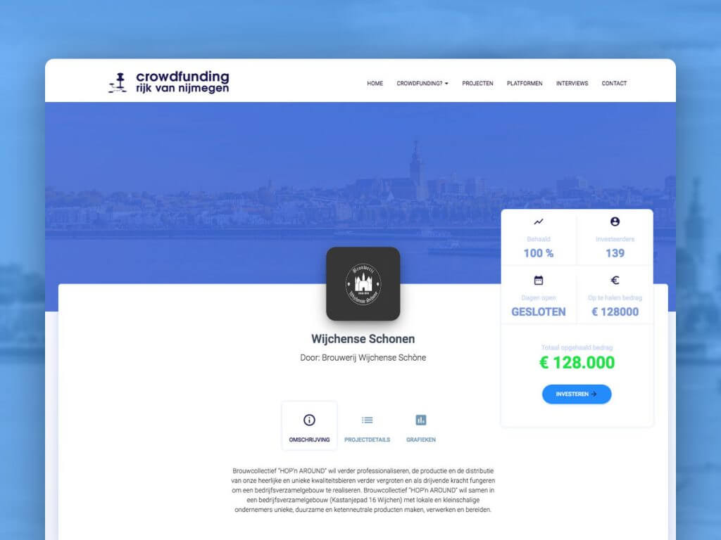 Webdesign Nijmegen Crowdfunding