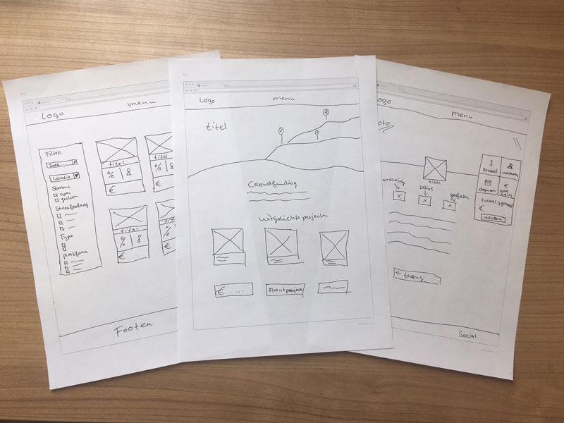 webdesign schetsen crowdfuning nijmegen