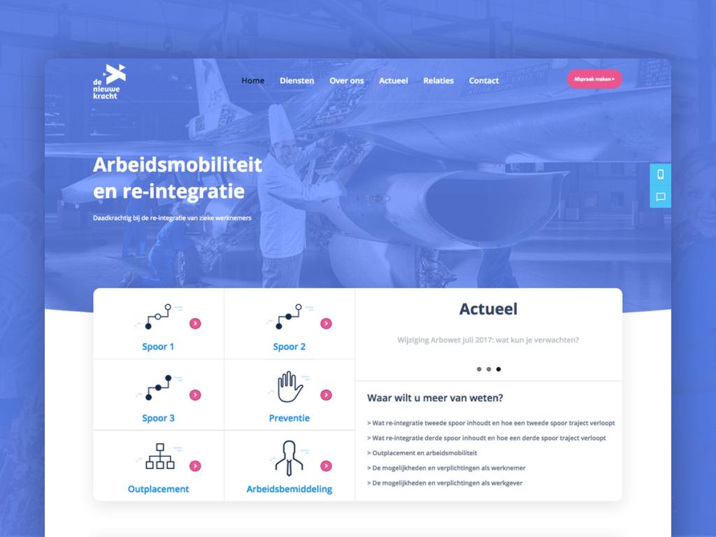 Webdesign De Nieuwe Kracht