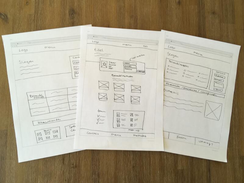webdesign schetsen