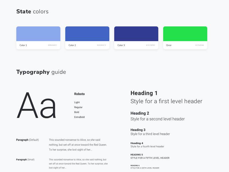 Webdesign styleguide