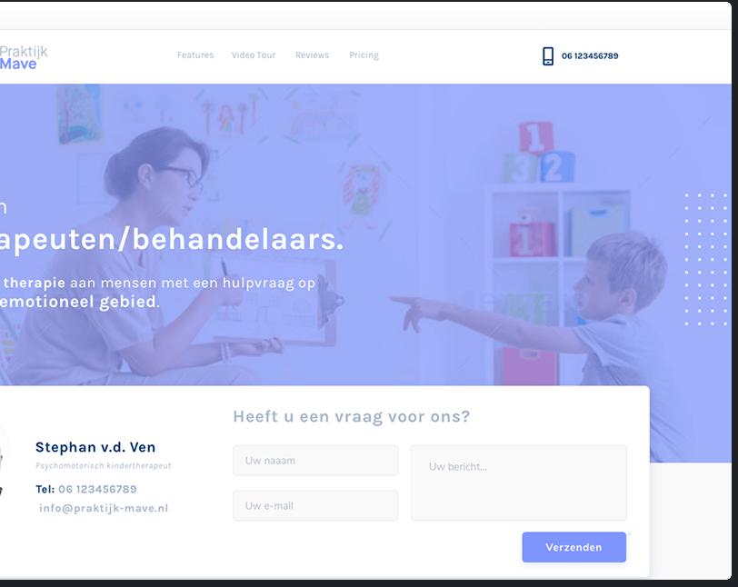 Webdesign praktijk Mave