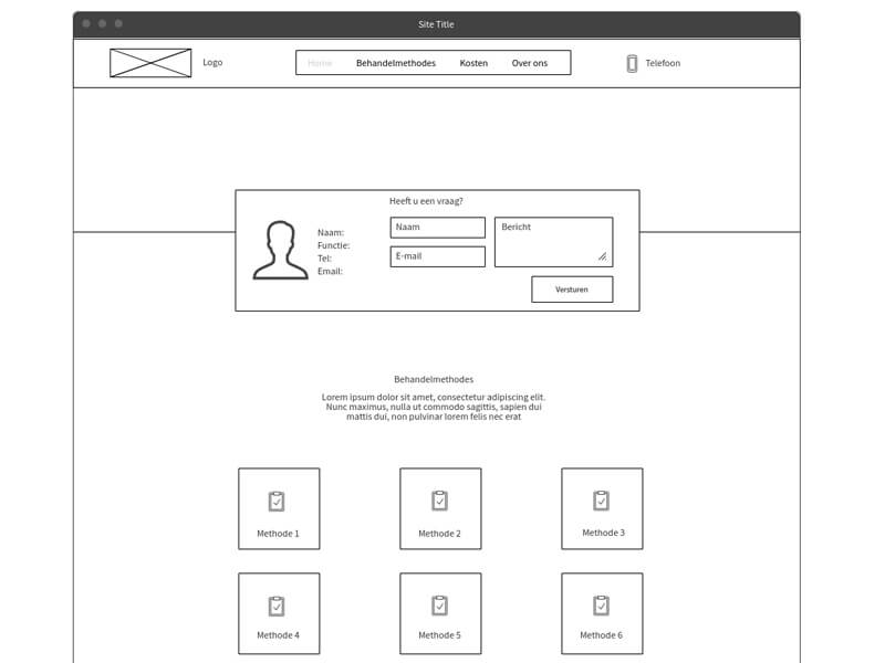 webdesign wireframes